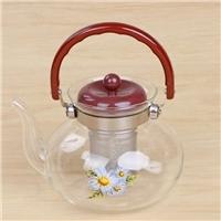 耐高溫玻璃茶水分離泡茶壺過濾煮茶壺直火壺涼水壺
