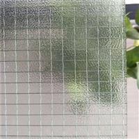 中夹丝压花玻璃防火防爆防盗艺术玻璃生产厂家