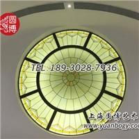 創意新穎彩色玻璃穹頂圓博