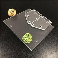 异形钻孔玻璃 CNC精雕开孔钢化玻璃