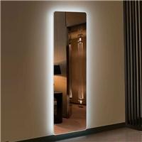 定制 酒店浴室化妆镜 无边框浴室镜 背光灯镜
