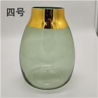 北歐簡約玻璃花瓶透明客廳落地創意餐桌 插花花器 擺件
