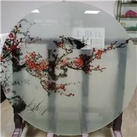 广州彩绘玻璃 彩釉玻璃 背景墙玻璃