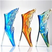 广州水晶琉璃奖牌厂家 员工退休纪念品礼品奖牌 员工生日礼物定制