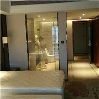 智能调光玻璃电控雾化玻璃家用酒店通电透明断电雾化遥控变色玻璃