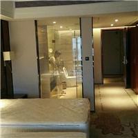 智能调光膜电子变色窗帘电控雾化玻璃浴室门通电透明断电磨砂隔断