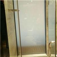 藝術玻璃霧化夾膠 夾絲酒店鋼化玻璃中空超大超長玻璃玄關隔斷