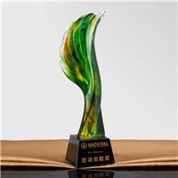 阳朔水晶树脂奖杯定制批发,首届合作纪念品,贡献全能奖品