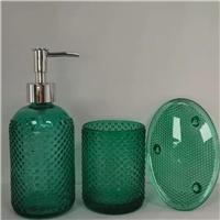 玻璃制品、洗手液玻璃瓶套裝、小口大肚花瓶、化妝品瓶,醬菜瓶