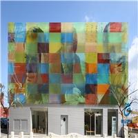 厂家加工数码彩釉玻璃 高温丝印钢化玻璃 可来图定制