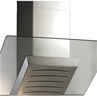 弧形厨房油烟机丝印钢化玻璃