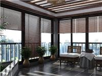 阳台玻璃百叶窗帘的特点  阳台怎么用透明玻璃装修