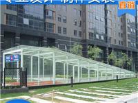 轻钢玻璃雨棚和钢化玻璃雨棚有什么区别  用吸盘搬运玻璃好不好