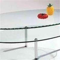 精致優雅的雙層鋼化玻璃餐桌