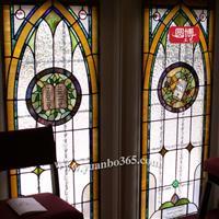 彩绘玻璃窗 教堂玻璃窗 彩色玻璃窗厂家圆博工艺