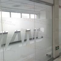 厦门玻璃磨砂贴刻字/厦门玻璃贴防撞条logo