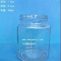 300ml酱菜玻璃瓶 罐头瓶 蜂蜜瓶 马口铁盖