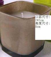 方形蒙砂玻璃烛杯