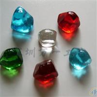 琉璃(玻璃)小件,玩具配件--多面钻石