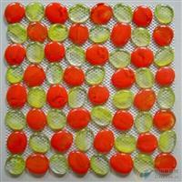 自由石马赛克,拼图网贴--红黄配