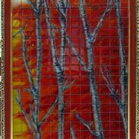 纯手工绘制玻璃马赛克工艺画