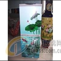 玻璃喷绘、上海彩晶玻璃平板喷绘