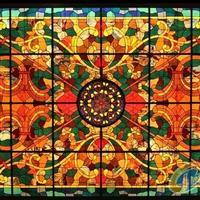 教堂玻璃、彩绘玻璃穹顶、彩色穹顶玻璃、欧式镶嵌玻璃
