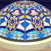 加工彩色鑲嵌玻璃教堂玻璃穹頂