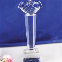 员工水晶奖杯