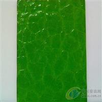 珠海压花玻璃-绿色银波