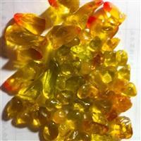 壁炉装饰用的桔色多面体形琉璃石