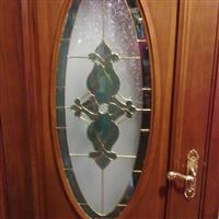 钢木门塑框47MM厚镶嵌玻璃