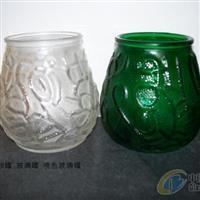 供应喷色玻璃蜡烛罐价格