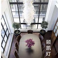 现代白色玻璃工艺品客厅艺术吊灯