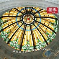 彩定制彩色彩繪玻璃穹頂
