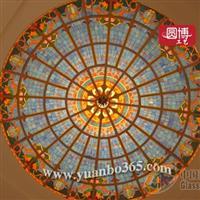 定制彩色玻璃,鑲嵌玻璃穹頂