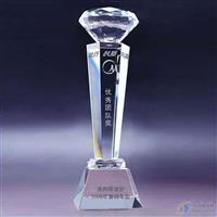 白城現貨水晶獎杯包刻字加圖鉆石獎杯