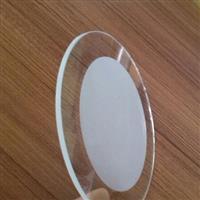 中间丝印蒙砂釉圆形钢化灯具玻璃