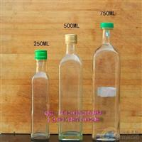 厂家直销玻璃瓶橄榄油瓶定做橄榄油瓶