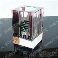 深圳邮政局办公水晶笔筒成批出售价