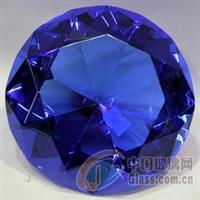 蓝色水钻高级K9料水晶钻石价格