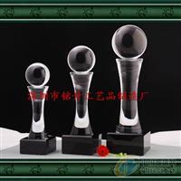 水晶球柱体奖杯奖座个性定制奖杯