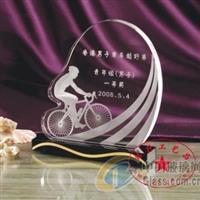 男子赛车越野活动冠军水晶奖牌