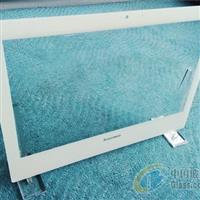 白色絲印邊框蓋板玻璃