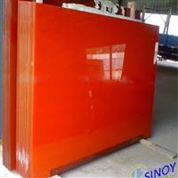 供应烤漆玻璃橙色烤漆玻璃彩色玻璃
