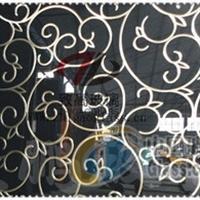 車刻花藤圖案、藝術背景墻玻璃