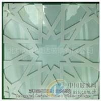 彩釉鋼化玻璃:白色條紋圖案