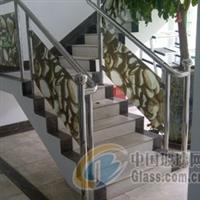 彩釉玻璃楼梯护栏