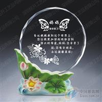 节日纪念品阿法瓷水晶奖牌摆台