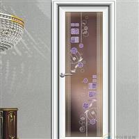 批发艺术玻璃平开门 浴室门